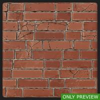 PBR wall brick damaged texture 0002