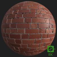 PBR Substance Material of Wall Brick Damaged
