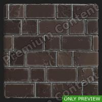 PBR wall bricks old texture 0002