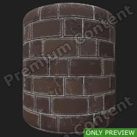 PBR wall bricks old texture 0003