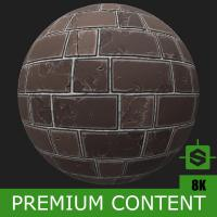 PBR Substance Material of Wall Brick Old