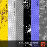 PBR metal floor industrial texture DOWNLOAD