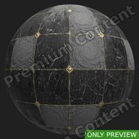 PBR marble floor damaged texture 0001