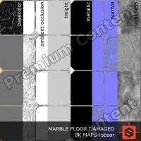PBR marble floor damaged texture DOWNLOAD