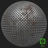 PBR Substance Material of Metal Floor Rusted #9