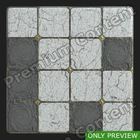 PBR marble floor damaged preview 0002