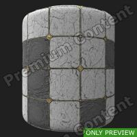 PBR marble floor damaged preview 0003