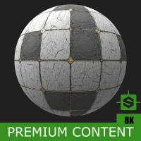 PBR Substance Material of Floor Marble Damaged #3
