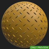 PBR painted metal floor yellow preview 0001