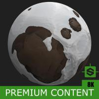 PBR Texture of Ground Snowy Stones #3