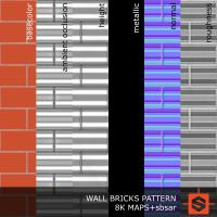 PBR wall bricks pattern texture DOWNLOAD