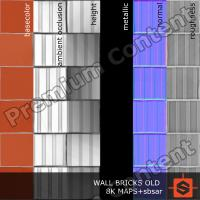 PBR wall bricks old texture DOWNLOAD