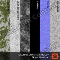 PBR ground concrete mossy texture DOWNLOAD
