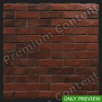 PBR wall brick damaged preview 0002