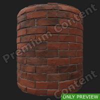 PBR wall brick damaged preview 0003