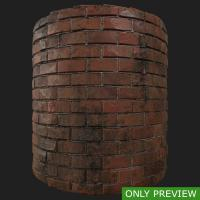 PBR wall brick dirty preview 0003