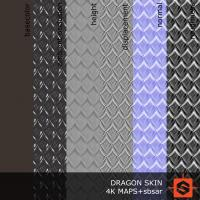 PBR dragon skin texture DOWNLOAD
