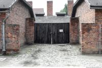 Auschwitz concentration camp door 0001
