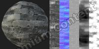 PBR texture of wall stones