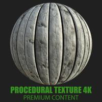 PBR Texture of Wood Planks Old #2