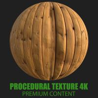 PBR Texture of Wood Planks Old #4