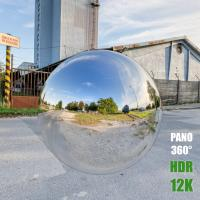 HDR Panorama 360° of Background Industrial Street