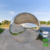 HDR Panorama 360° of Background Under Bridge