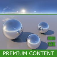 Photo Texture of HDRi Blue Clear Skydome 360°
