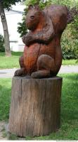 wooden statue animal 0001