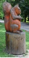 wooden statue animal 0004