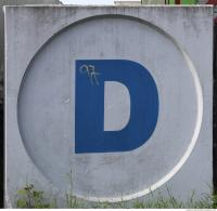 concrete sign letter 0004