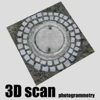 3D scan manhole cover #5