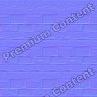 seamless wall bricks normal map 0006