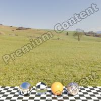 Panorama HDR background nature meadow