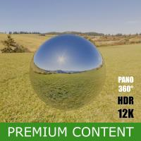 HDR Panorama 360° of Background Nature Meadow