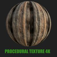 PBR Texture of Wood Planks #8