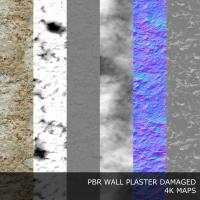 PBR texture of plaster damaged #6