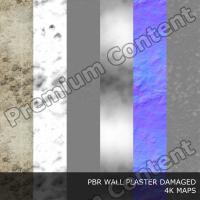 PBR texture of plaster damaged #7