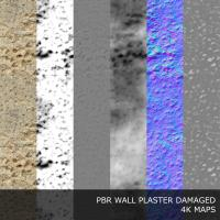 PBR texture of plaster damaged #8