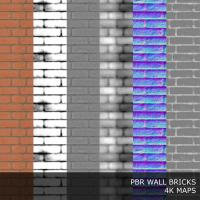 PBR texture of bricks