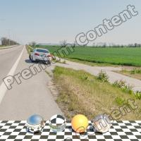Panorama HDR background road