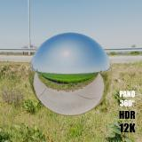 HDR Panorama 360° of Background Sidewalk