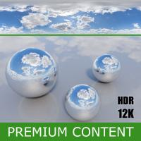 Photo Texture of HDRi Blue Clouded Skydome 360°