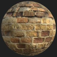 PBR texture wall bricks old
