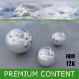 Photo Texture of HDRi Blue Clouded Skydome 360