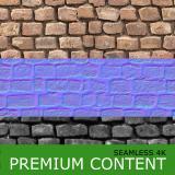 Seamless Textures of Bricks + Normal & Bump Mapping