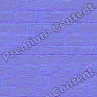 seamles wall bricks normal map 0006