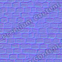 seamles wall bricks normal map 0009