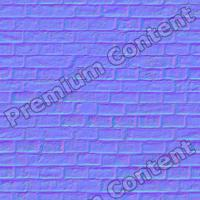 seamles wall bricks normal map 0010