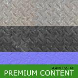 Seamless Textures of Metal + Normal & Bump Mapping